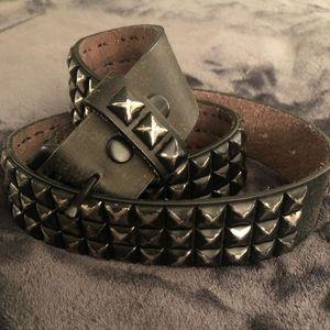 Distressed studded belt size 40